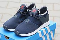 Мужские кроссовки ADIDAS, сетка, темно синие/ бег кроссовки АДИДАС мужские, удобные