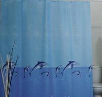Шторка для ванной и душа 180х200 Дельфины