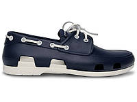 Мужские Crocs Beach Line Boat Shoe Dark Blue White