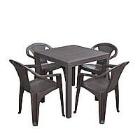 Комплект садовый стол Dallas+4 кресла Atlanta
