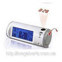 Часы с проектором будильник термометр 8097, фото 1