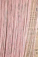 Шторы-нити Дождик розовые №05