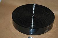 Тесьма ременная из кожзама 4 см черный