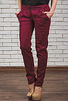 Женские брюки лен бордо