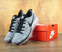Мужские кроссовки Nike Flyknit Air Max grey. Топ качество. Живое фото  (Реплика ААА dedbcb24397b9