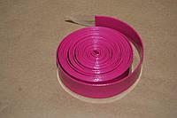 Тесьма ременная из кожзама 2 см розовая