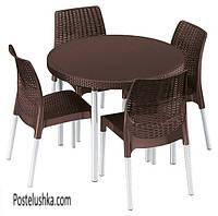Комплект садовой мебели Keter Jersey set Коричневый