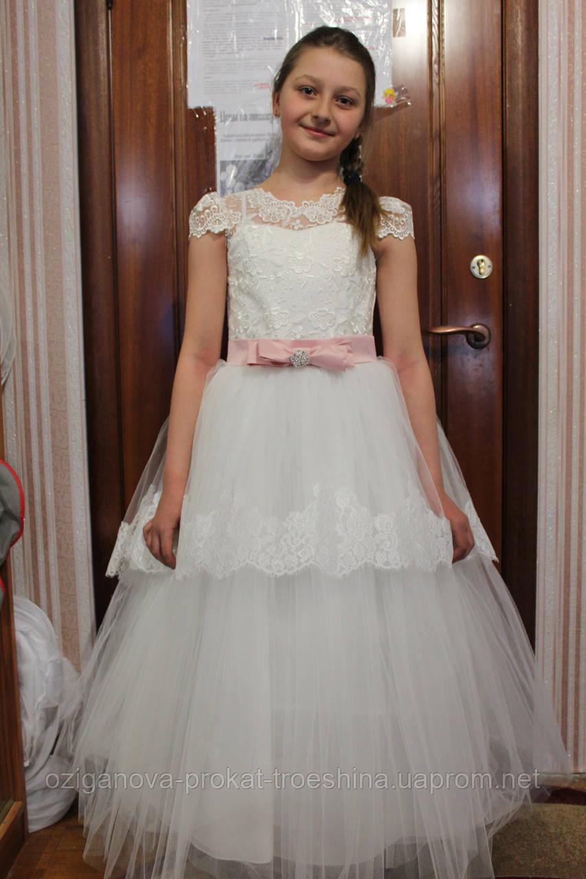 c5f6f6e6748 Детское нарядное платье Снежинка (1075)- прокат