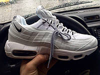 Кросівки Nike Air Max 95 all white. Живе фото! Топ якість (Репліка ААА+), фото 1