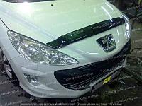 Дефлектор Пежо 308 (мухобойка на капот Peugeot 308)