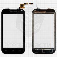 Тачскрин (сенсор) для мобильного телефона Nomi i401 Colt, черный, (117x60,5 мм)