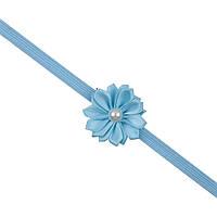 Повязка на голову для девочки от 0 до 1 года голубая