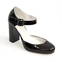 Женские черные лаковые туфли на высоком каблуке. 36,40 размеры