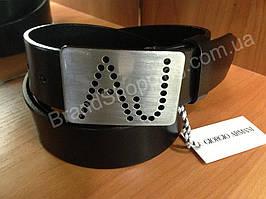 Кожаный ремень Armani Jeans 0624 ширина 4см мужской/женский черный