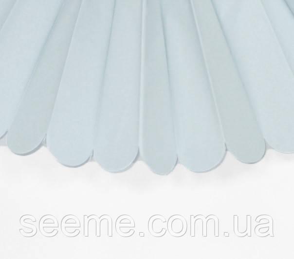 Паперові помпони з тишею «Light Blue», діаметр 25 див.