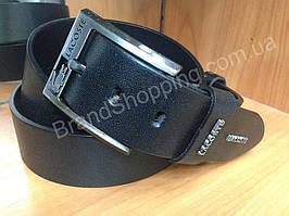 Кожаный ремень Lacoste 0695 ширина 4,5см черный мужской/женский