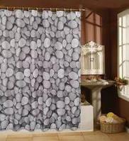 Шторка для ванной и душа 180х200 Камни