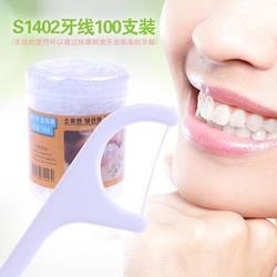 Зубна нитка (флосс) і зубочистка (100шт) Корея
