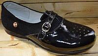 Детские кожаные туфли Lapsi для девочек размеры 32,34,35,36,37