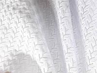 Трикотаж Ажурная фантазия (белый) (арт. 2252) 100% хлопок (Отрез 2,7 м)