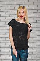 Женская блуза сетка черная, фото 1