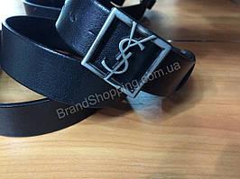 Кожаный ремень YSL 0821 ширина 4см
