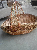 Корзина из лозы с Алловским плетением, фото 1
