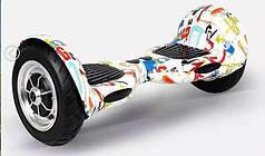 Гироборд Erover GK-M08-Grafiti, мотор 700W, 16км/ч, до 130 кг, подсветка, колонки, пульт, приложение