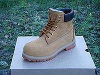 Зимние ботинки Timberland Yellow с мехом (Реплика ААА+), фото 1