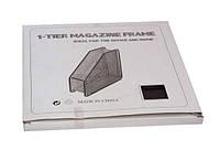 Лоток для бумаги  металлический, вертикальный, сетка, 1 секция,