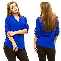 Шикарная блуза с V-образным вырезом горловины, в 11 расцветках.
