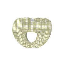 Подушка под голову Оливковая клетка