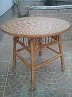 Стол из лозы круглый