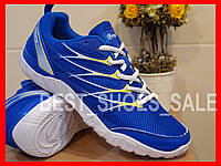 Кроссовки женские подростковые летние сетка RESTIME BLUE WHITE 36-40