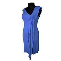 Платье трикотажное синее, размер М купить