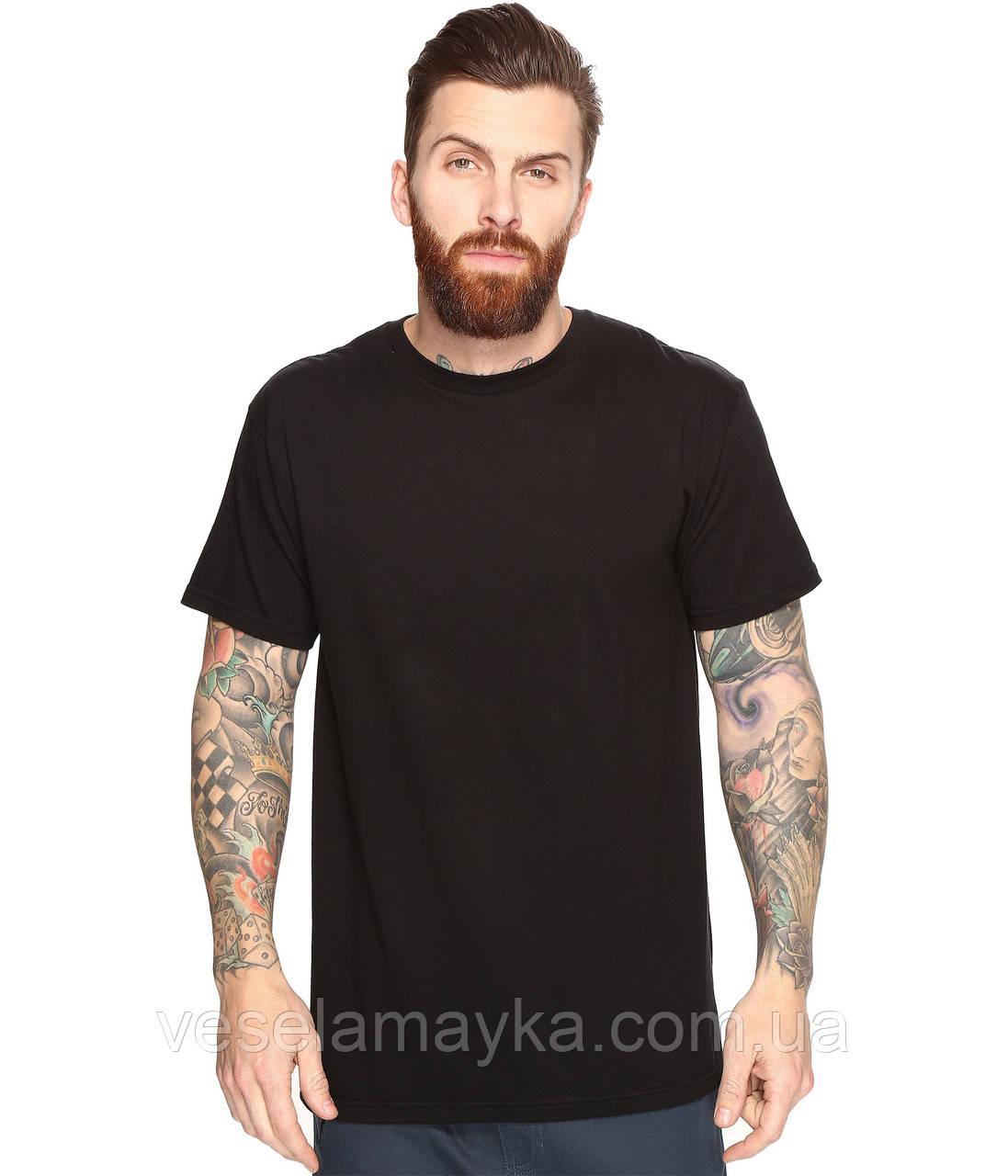 Черная мужская футболка (Комфорт)