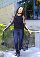 Легкое, воздушное фатиновое платье из черного фатина