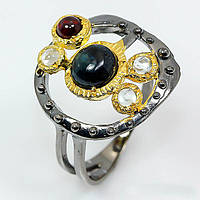 Сапфир, серебро 925, кольцо ручная работа, 456КС