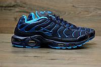 Мужские кроссовки Nike Air Max Tn+ Dark Blue. Топ качество! Живое фото (Реплика ААА+), фото 1