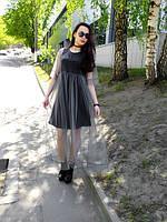 Воздушное фатиновое платье из серого фатина