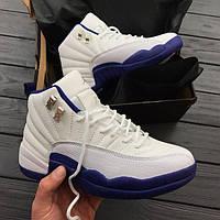 Кроссовки женские Air Jordan 12 RETRO WHITE/BLUE