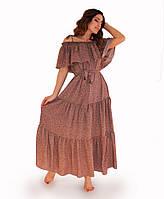 Платье летнее Цветы на темном ТМ Прованс