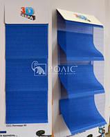 C512 Леонардо синий зебра 3D, тканевые ролеты