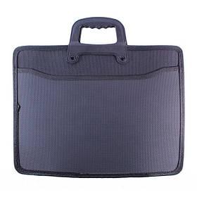 Папка-портфель пластикова з ручками (2 відділення + 1 кишеня) 9912