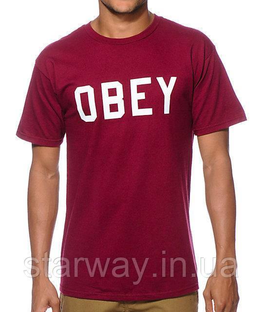Футболка красная Obey logo