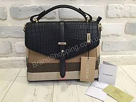 Стильная женская сумочкаBurberry чёрная 8819
