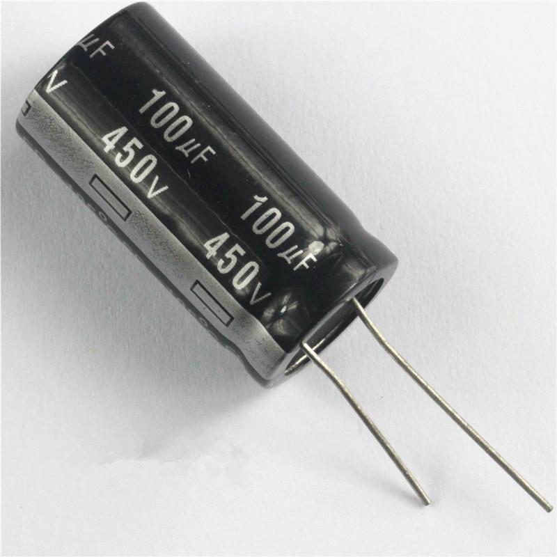 Конденсатор 100uF 450V 100мкФ 450В 18mm X 35mm