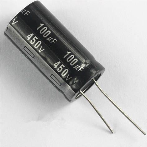 Конденсатор 100uF 450V 100мкФ 450В 18mm X 35mm, фото 2