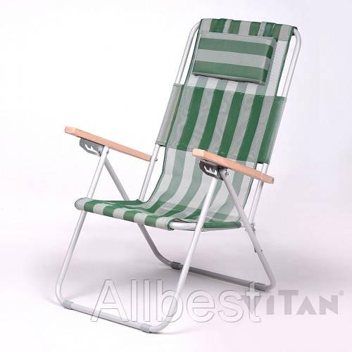 Кресло-шезлонг «Ясень» зеленый оптом