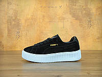 Кроссовки Puma Suede Creepers Fenty by Rihanna Oatmeal black/blue